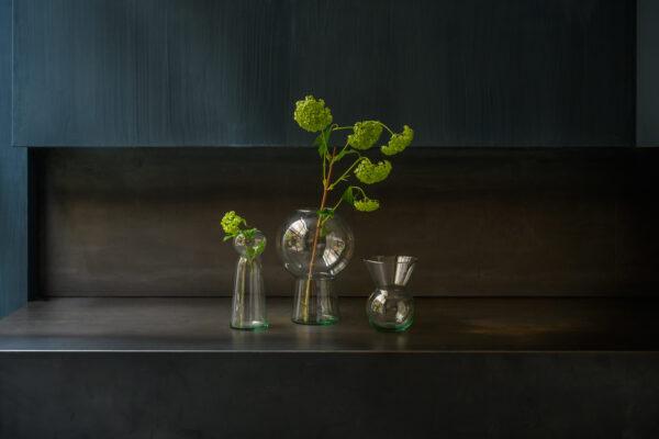 Vase recyceltes Glas