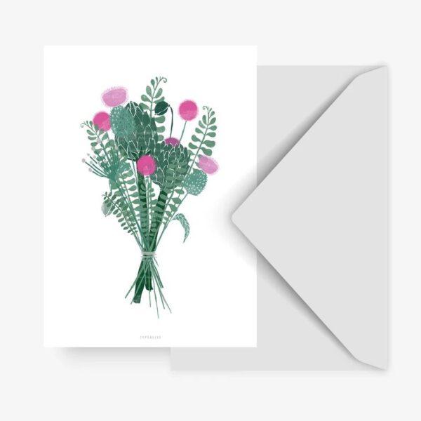 Postkarte Blumenstrauß - Typealive