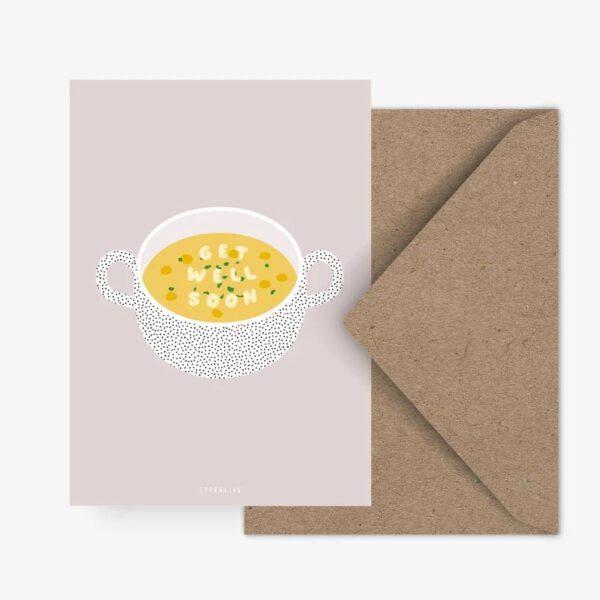Postkarte - gute Besserung