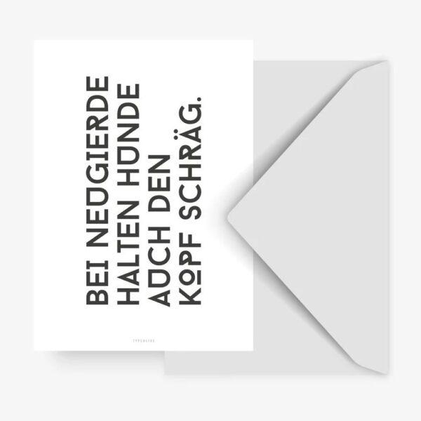 Postkarte - Hund