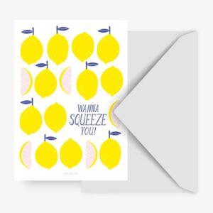 Postkarte - Zitrone