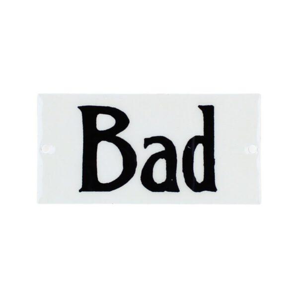 Emailleschild Bad