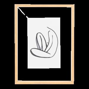 zweiseitiger Bilderrahmen Holz L
