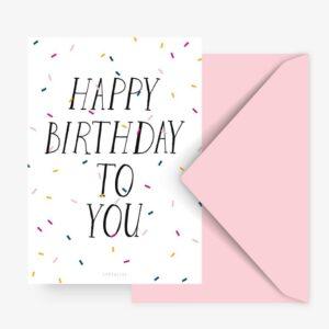 Postkarte - Happy Birthday
