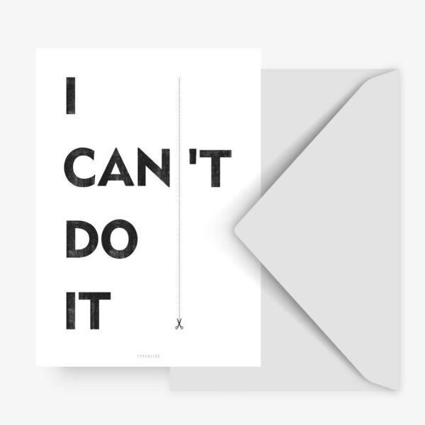Postkarte - I Can typealive