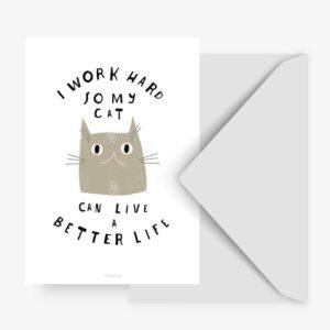 Postkarte - Cat Typealive